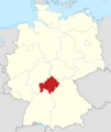 Locator map Unterfranken in Germany.png